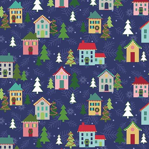 Navy - Christmas Village - Better Not Pout by Nancy Halvorsen - 10170-11