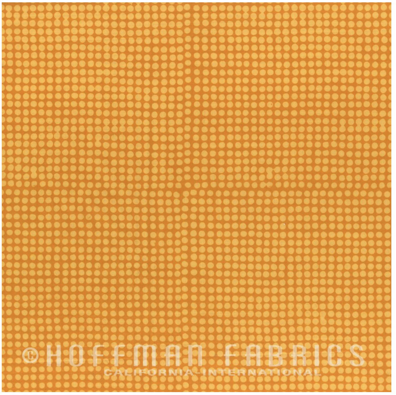 Raindrops Sunflower - Hand Dyed Batiks - Me + You Hoffman Fabrics 101-150