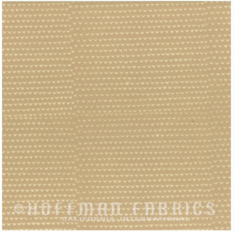 Prints Beige - Hand Dyed Batiks - Me + You Hoffman Fabrics 102-25