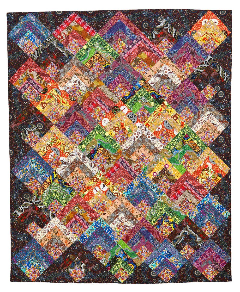 Colorful Cabins Quilt Kit
