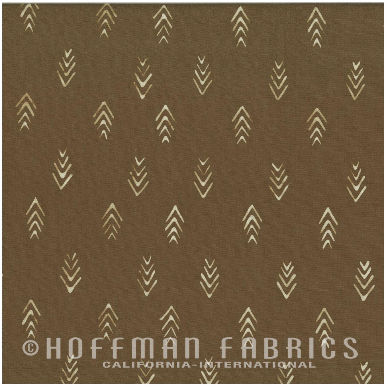 Herringbone Coffee - Hand Dyed Batiks - Me + You Hoffman Fabrics 110-53