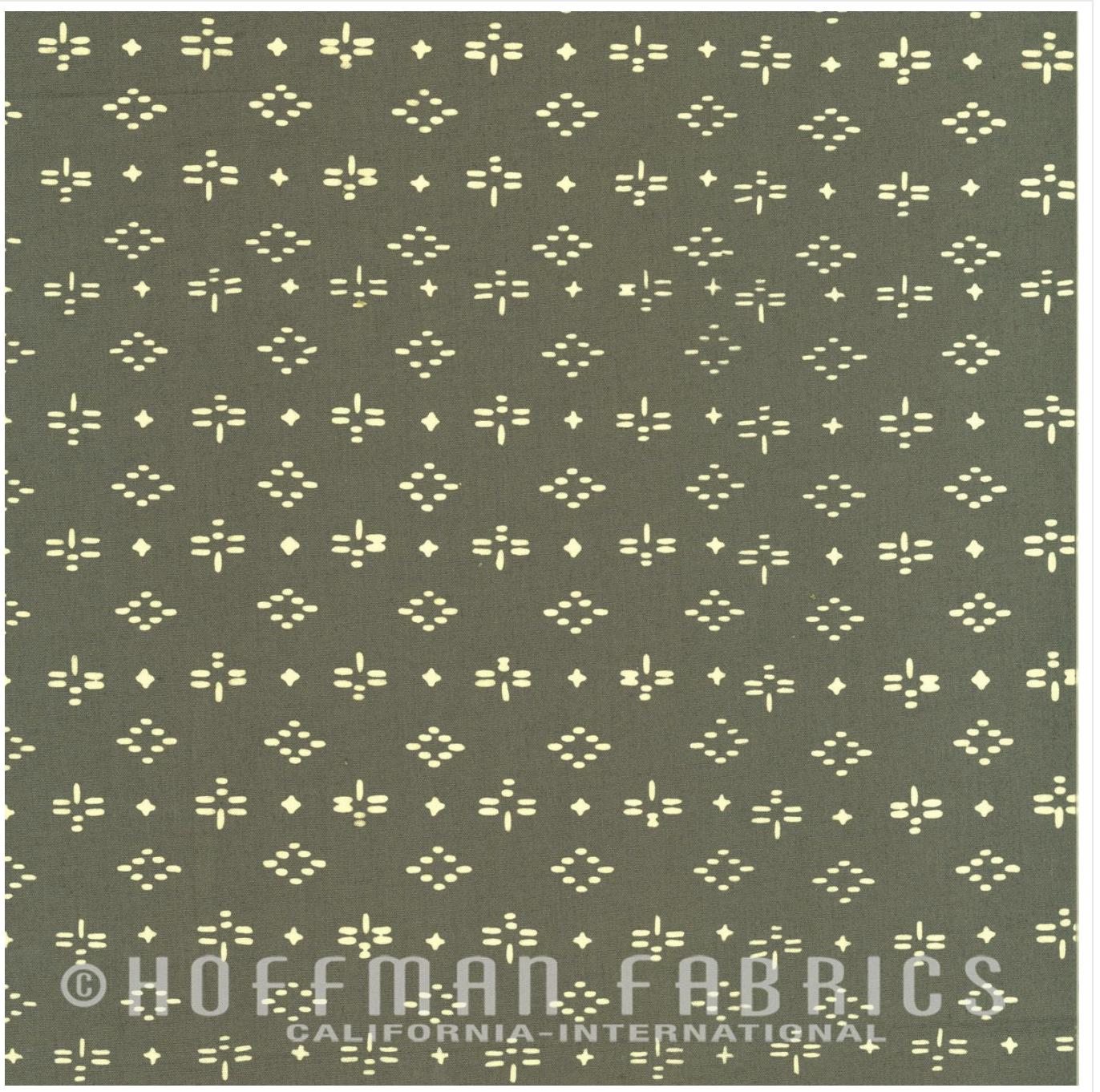 Geo Dragonfly Slate - Hand Dyed Batiks - Me + You Hoffman Fabrics 112-92