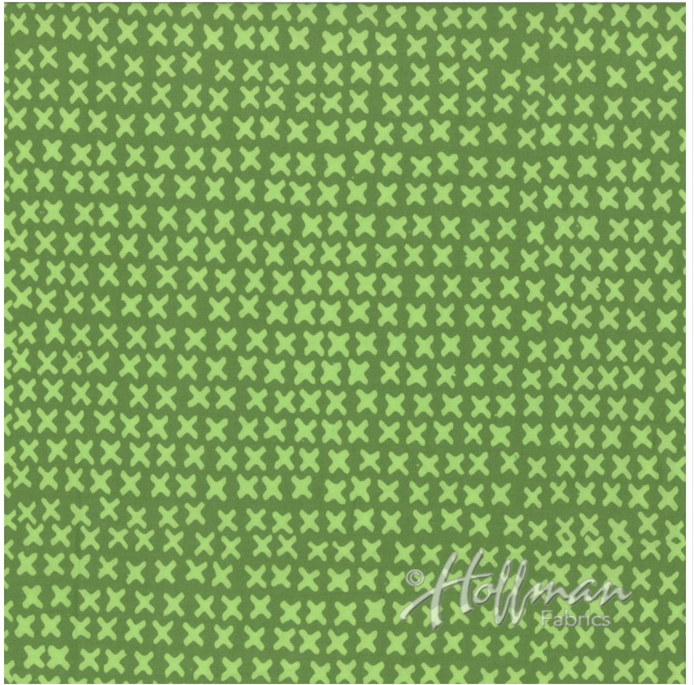 X's Fern - Hand Dyed Batiks - Me + You Hoffman Fabrics 120-220