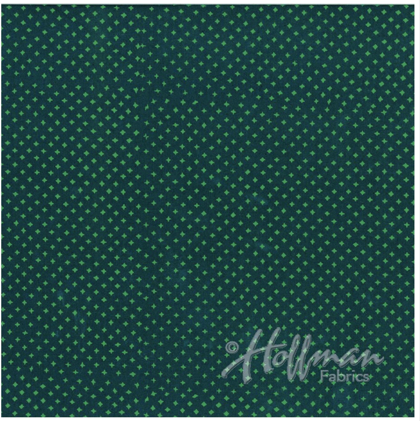T's Spruce - Hand Dyed Batiks - Me + You Hoffman Fabrics 130-90