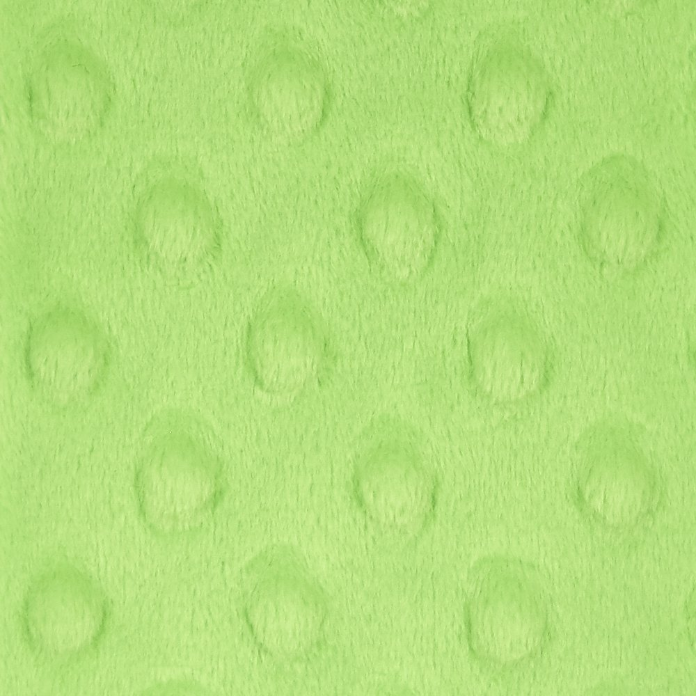 Minky Dots - Bright Lime - 32007