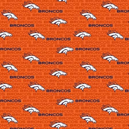 Denver Broncos - NFL Football Cotton Print - 58-60 - 14501-D