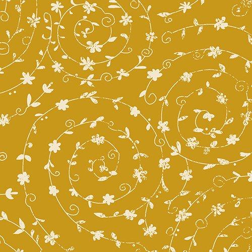 Gold Swirling Vines - Ain't Life a Hoot - Q1483-44