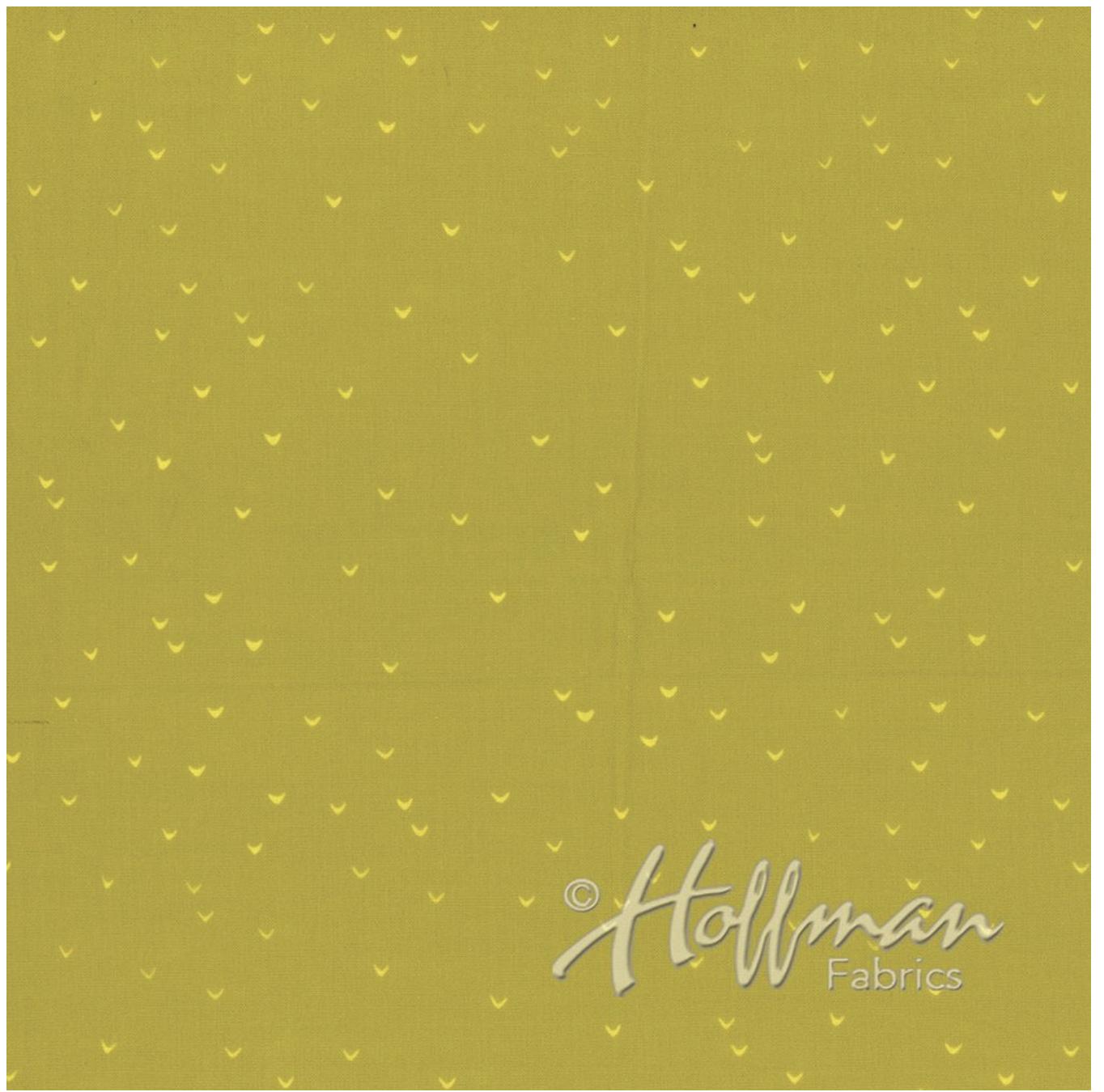 Lines Chartreuse - Hand Dyed Batiks - Me + You Hoffman Fabrics 148-499
