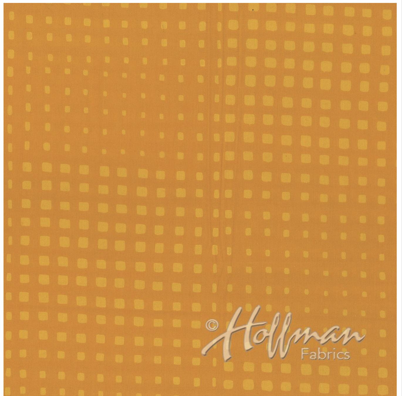 Random Squared Sunflower - Hand Dyed Batiks - Me + You Hoffman Fabrics 154-150