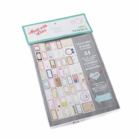 Moda Designer Quilt Label - 60 x 30  - 51 labels/panel