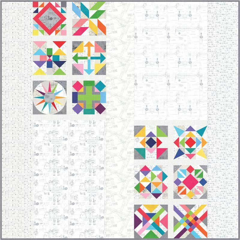 Spotted Quilt Kit  by Zen Chic - 85 x 85 - KIT1660