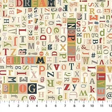 Cream -  BG Letters - Letterpress - Deborah Edwards - 21893-11