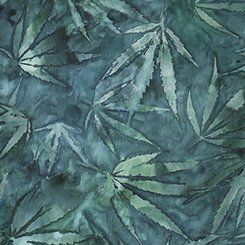 Quilting Treasures Cannabis Aqua 24913Q