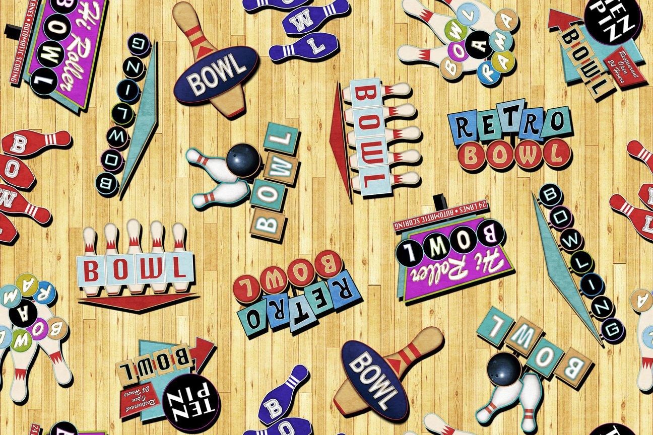 Wheat - Retro Bowling Signs - Bowl-A-Rama - 26700 S