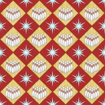 Dark Red - Bowling Diamond - Bowl-A-Rama - 26703 R