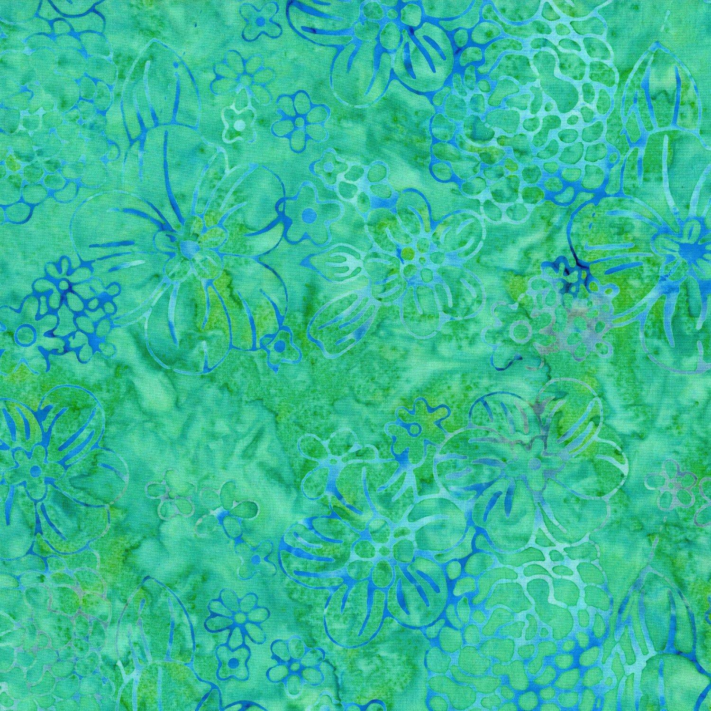 MALAM IV DESIGNED BY JINNY BEYER - Mist Floppy Floral Aqua