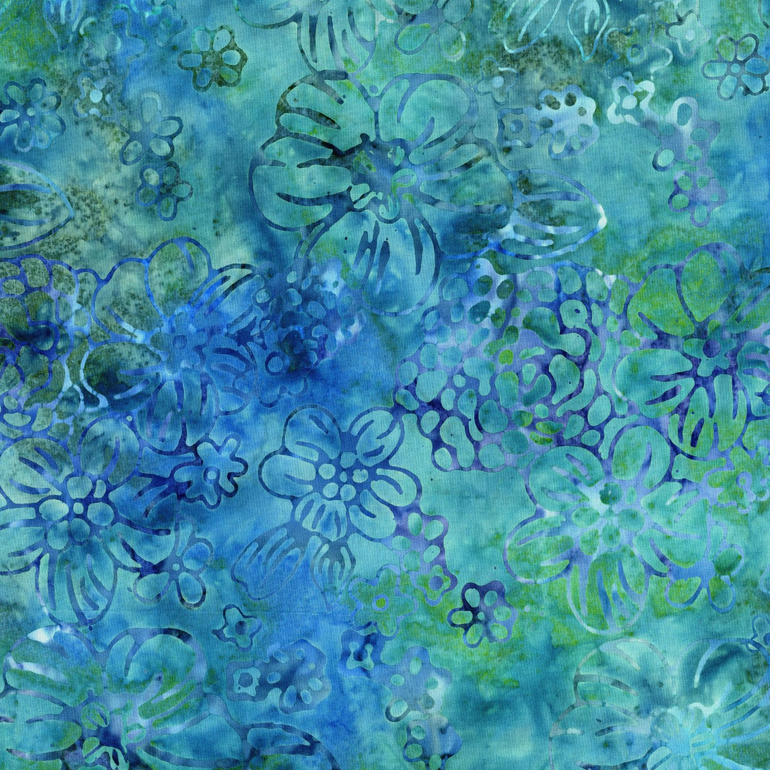 MALAM IV DESIGNED BY JINNY BEYER - Water Floppy Floral Blue