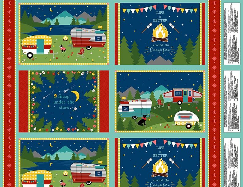 Placemat Panel - Gone Glamping - 3007-68482-743