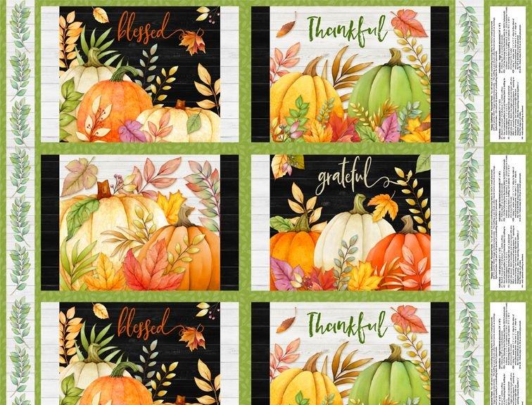 Pumpkin Panel - Happy Gatherings - 3022-32051-789