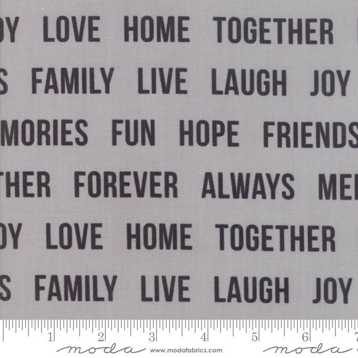 Gray Words - Urban Cottage Prints by Urban Chiks - 31131 12