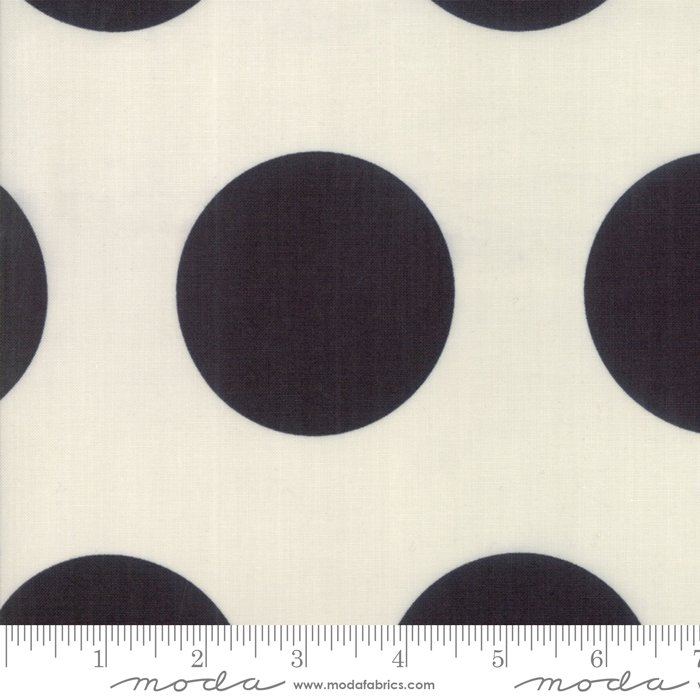 Ivory Black Large Dot - Urban Cottage Prints by Urban Chiks - 31133 11