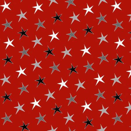 Red Stars - Around Town Christmas - 3714-88
