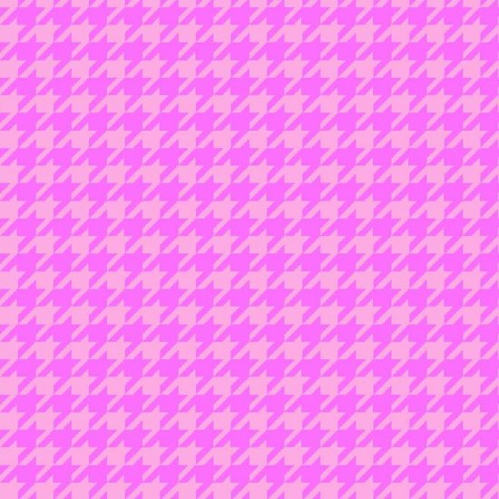 Pink Houndstooth - Local Flannel - Studio E - 3770-22
