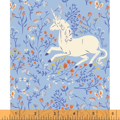 Blue Unicorn - Heather Ross 20th Anniversary Collection - 39657A-4