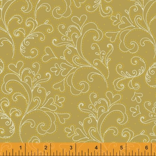 Gold - Holiday Metallic Scroll - Holiday Village - 40303AM-1