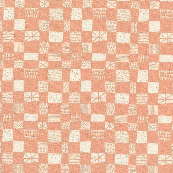 Print Shop - Alexia Marcelle Abegg - Grid - Peach - Cotton & Steel - 4037 003