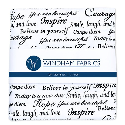 Inspirational Words - Wideback - 3 yards - 108 wide - 41948-PC5