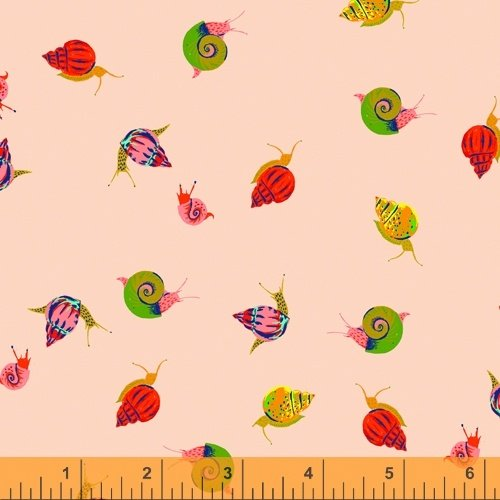 Peach Snails - Heather Ross 20th Anniversary Collection - 42209A-13