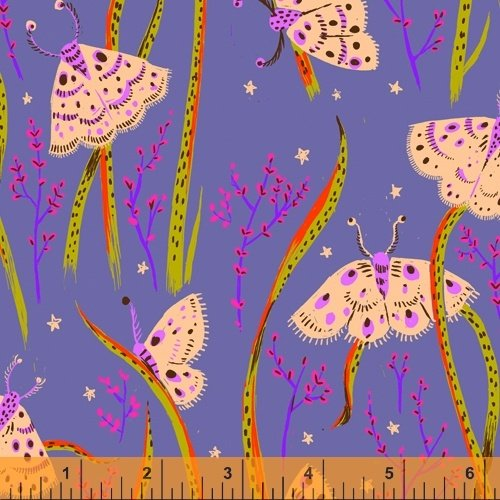 Twilight Moths - Heather Ross 20th Anniversary Collection - 42210A-14