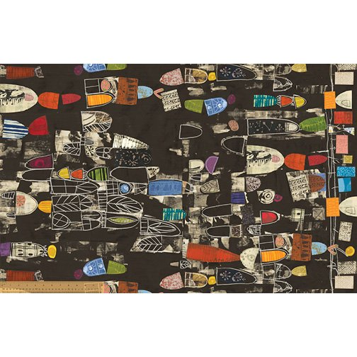 Black - Timeline : Lecture Panel - Art History 101 by Marcia Derse -  24 Digital Print - 50764D-1