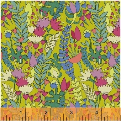 Florabundent - Fantasy by Sally Kelly - 51289-3 Chartreuse