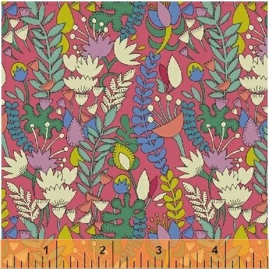 Florabundent - Fantasy by Sally Kelly - 51289-5 Raspberry