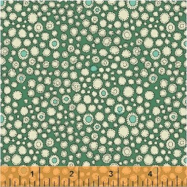 Flower Buttons - Fantasy by Sally Kelly - 51291-7 Parakeet