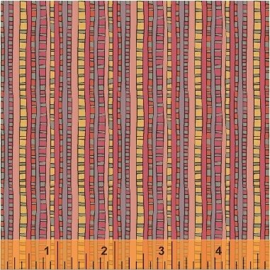 Ladder Stripe - Fantasy by Sally Kelly - 51293-5 Raspberry
