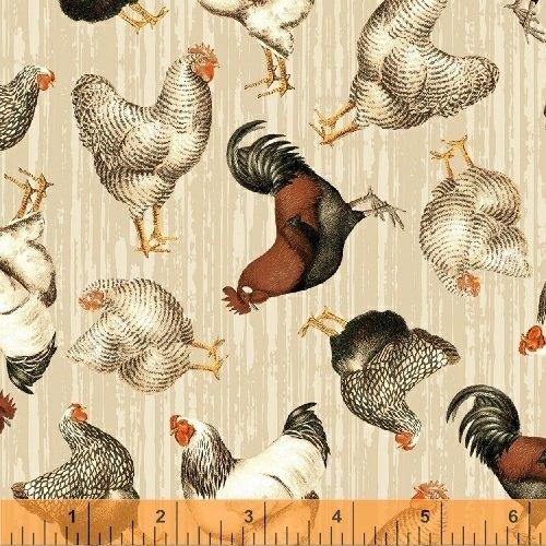 Cream Tossed Chickens - Early Bird - 51398-1