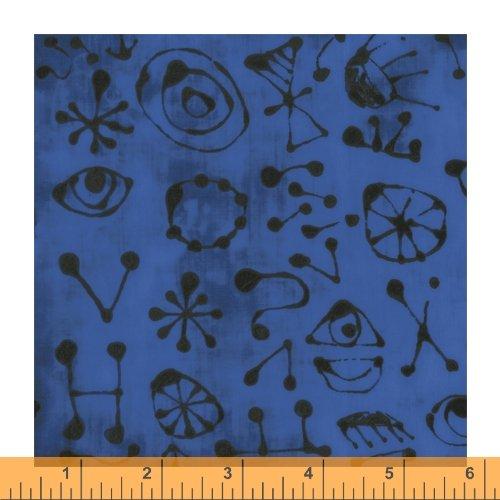 Medium Blue - Miro Glyphs - The Blue One by Marcia Derse - 52047-12