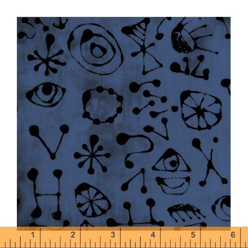 Dark Blue - Miro Glyphs - The Blue One by Marcia Derse - 52047-13