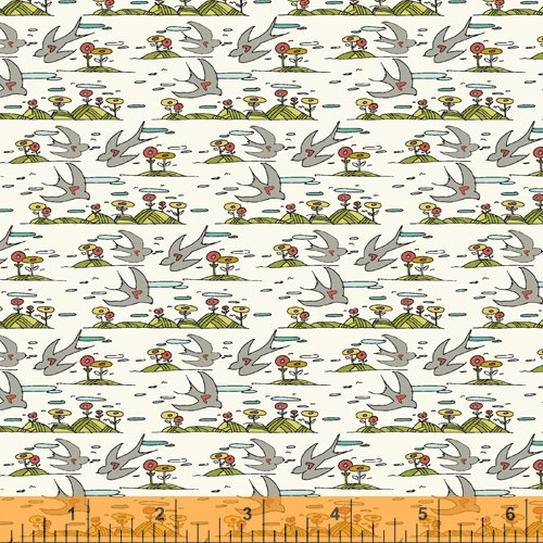 Gray - Little Birds - Bubbies Buttons and Bows - 52089-10