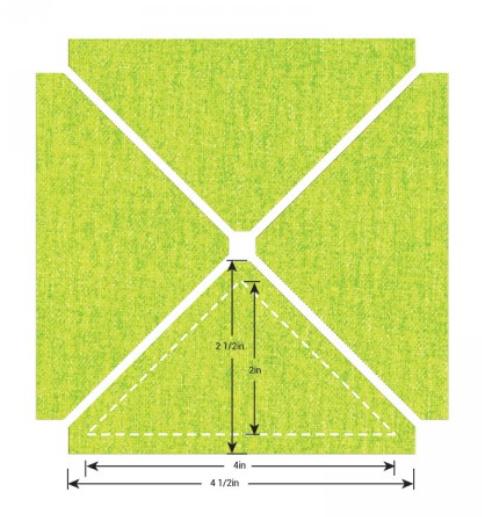 Sizzix Bigz L Die - Trngls 2 1/2H x 4 1/2W Unfin (M&G) - 657166