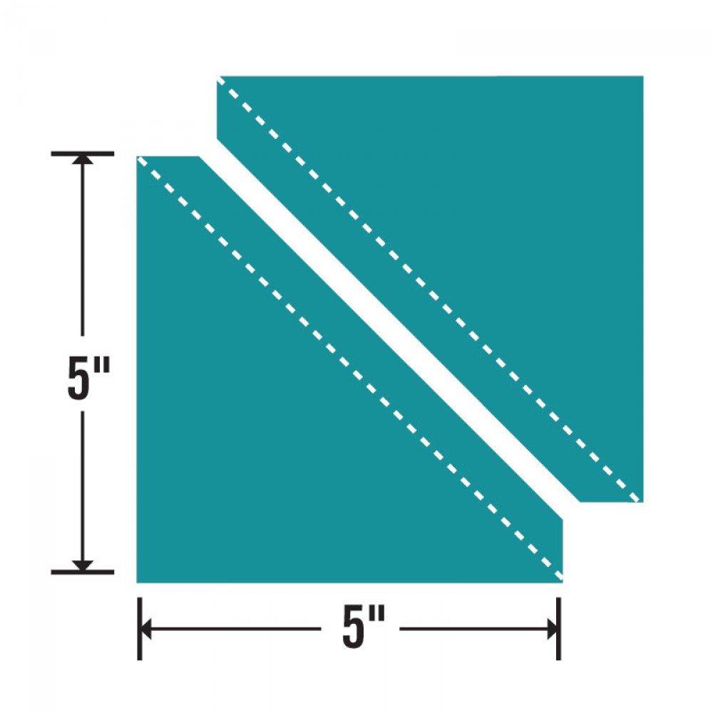 Sizzix Bigz L Die - Hlf-Sqr Trngl 5 Assembled Sqr (M&G) - 657520