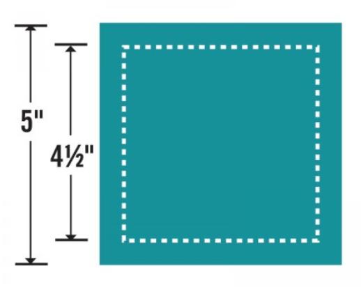 Sizzix Bigz L Die - Square 4 1/2 Finished (5 Unfin) (M&G) - 657626