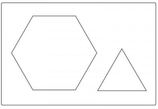 Sizzix Bigz Plus Q Die - Hexagon3.5Sds w/Eql Trngl 4Sds - 661647
