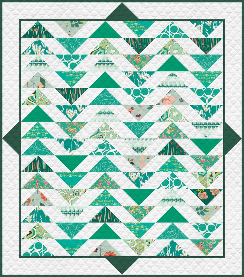 Plenum - No. 7 Emerald Stone Quilt Kit 57 1/2' x 64