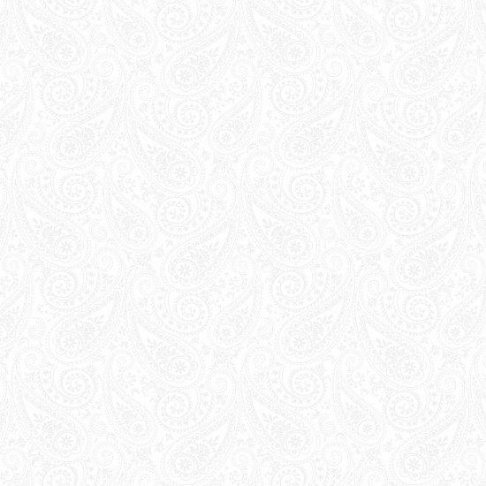 Paisley White on White - Morning Mist III - 9038-01W