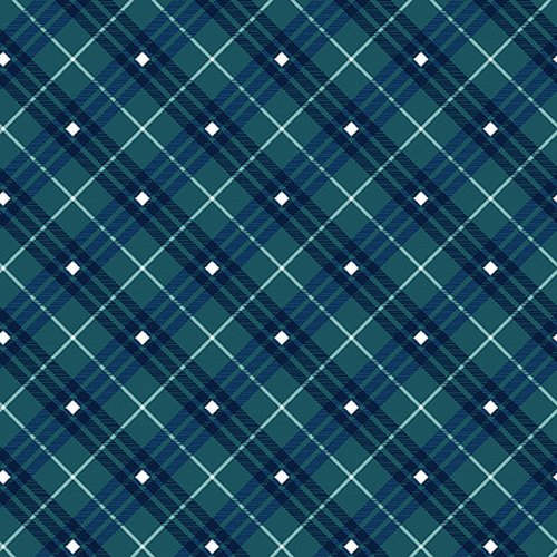 Navy - Plaid - Gnome for the Holidays - 9611-77