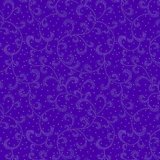 Dark Purple - Swirling Scroll - Color Theory - 9805-66